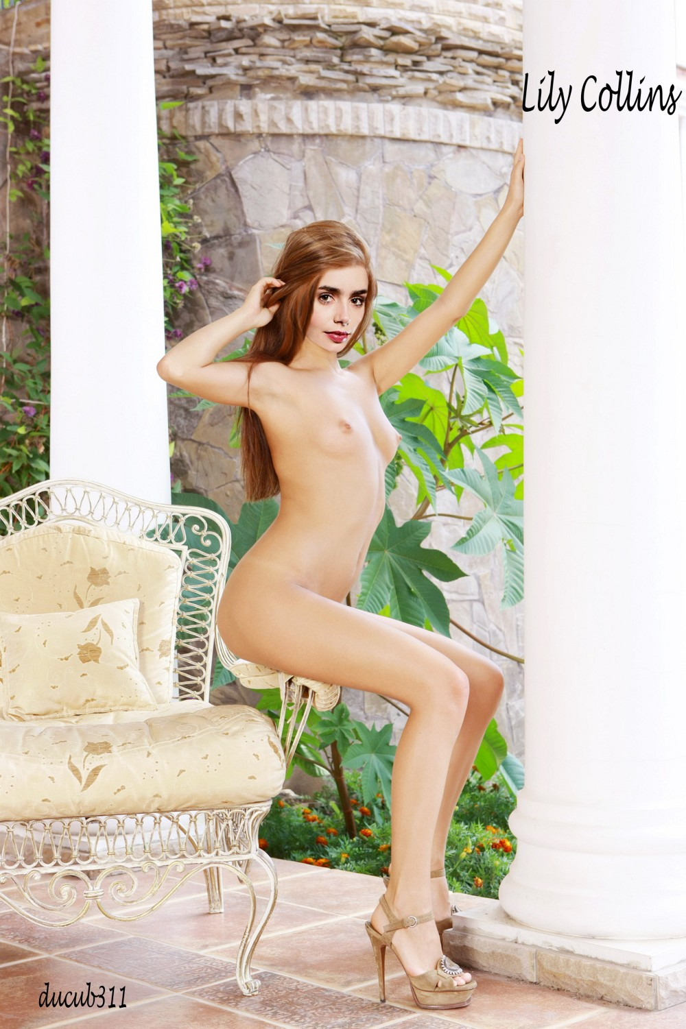 Lily Collins Nude Fakes-020