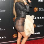 Adrienne Bailon No Panties in See-Through Dress Photos